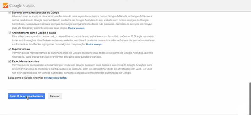 Configurar o google Analytics